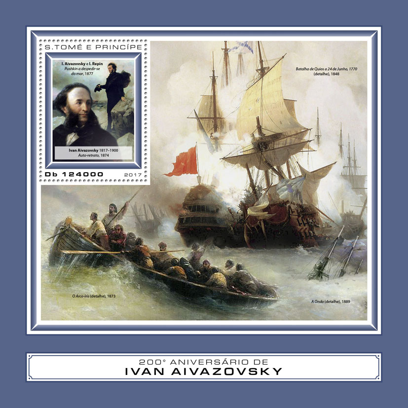 Ivan Aivazovsky - Issue of Sao Tome and Principe postage stamps