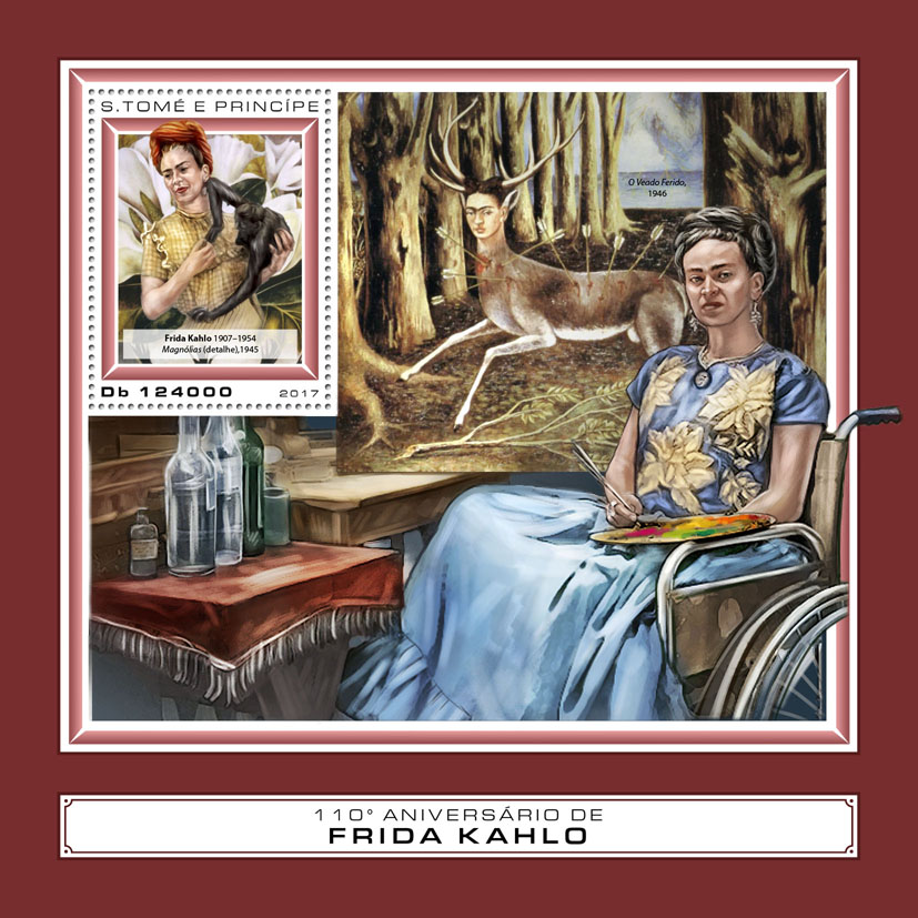 Frida Kahlo - Issue of Sao Tome and Principe postage stamps