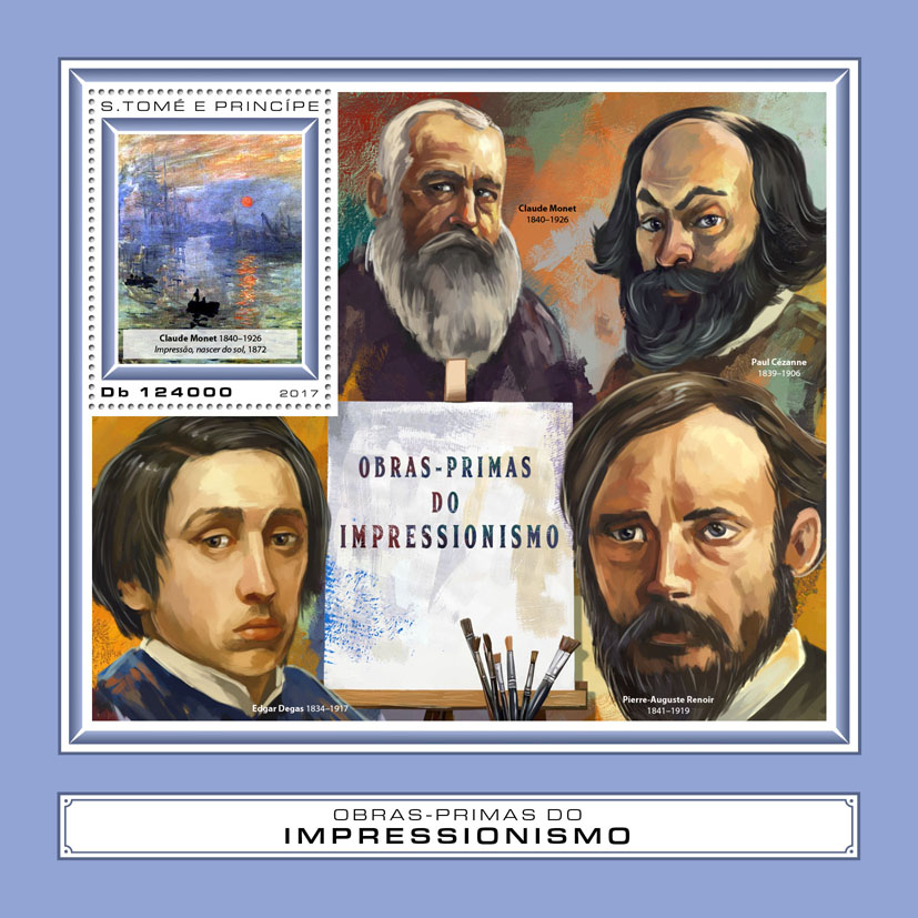 Masterpieces of Impressionism - Issue of Sao Tome and Principe postage stamps