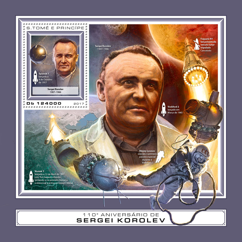 Sergei Korolev - Issue of Sao Tome and Principe postage stamps