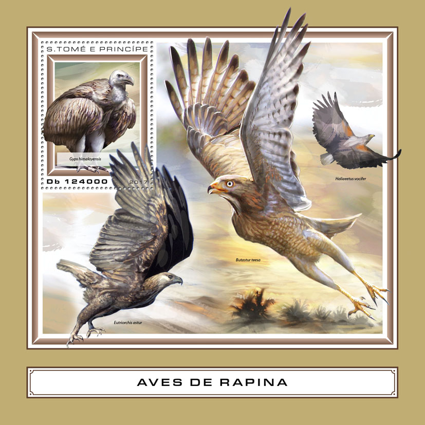 Birds of prey - Issue of Sao Tome and Principe postage stamps