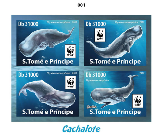 WWF – Sperm whale (delux) - Issue of Sao Tome and Principe postage stamps