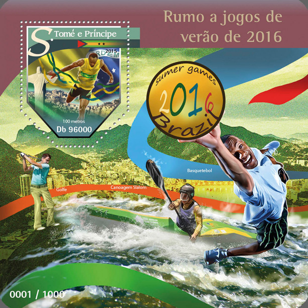 Summer Games Brazil 2016 - Issue of Sao Tome and Principe postage stamps