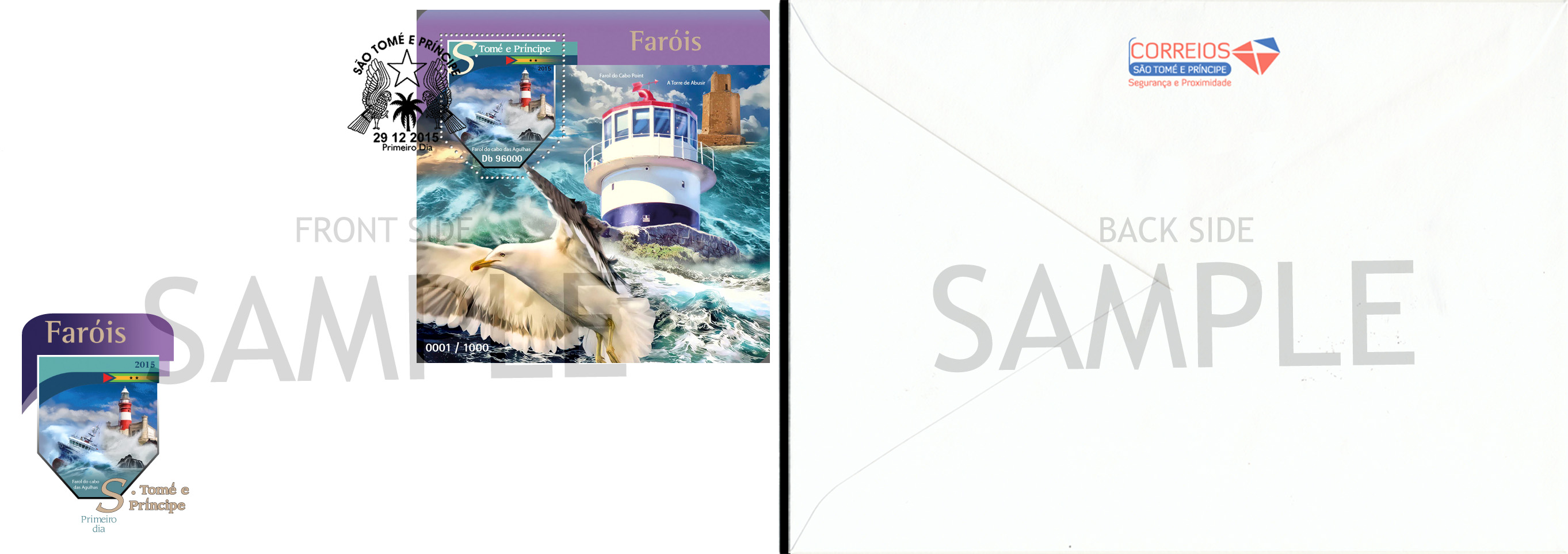 FDC Sample - Issue of Sao Tome and Principe postage stamps