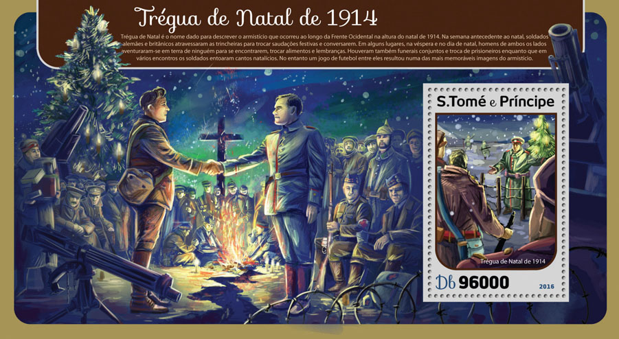 Christmas truce - Issue of Sao Tome and Principe postage stamps