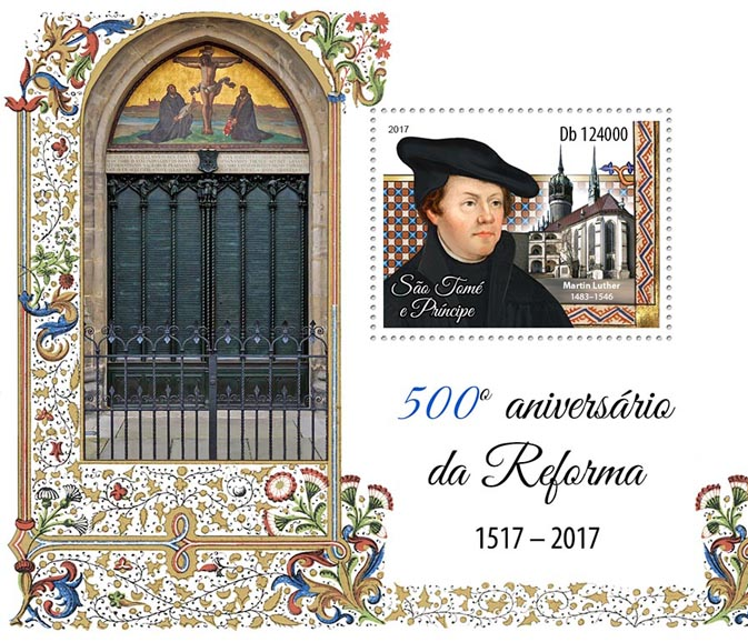 Reformation - Issue of Sao Tome and Principe postage stamps