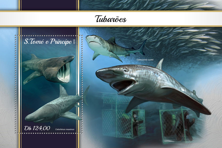 Sharks - Issue of Sao Tome and Principe postage stamps