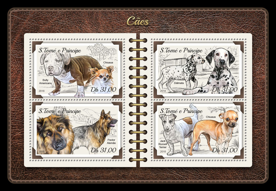 Dogs - Issue of Sao Tome and Principe postage stamps