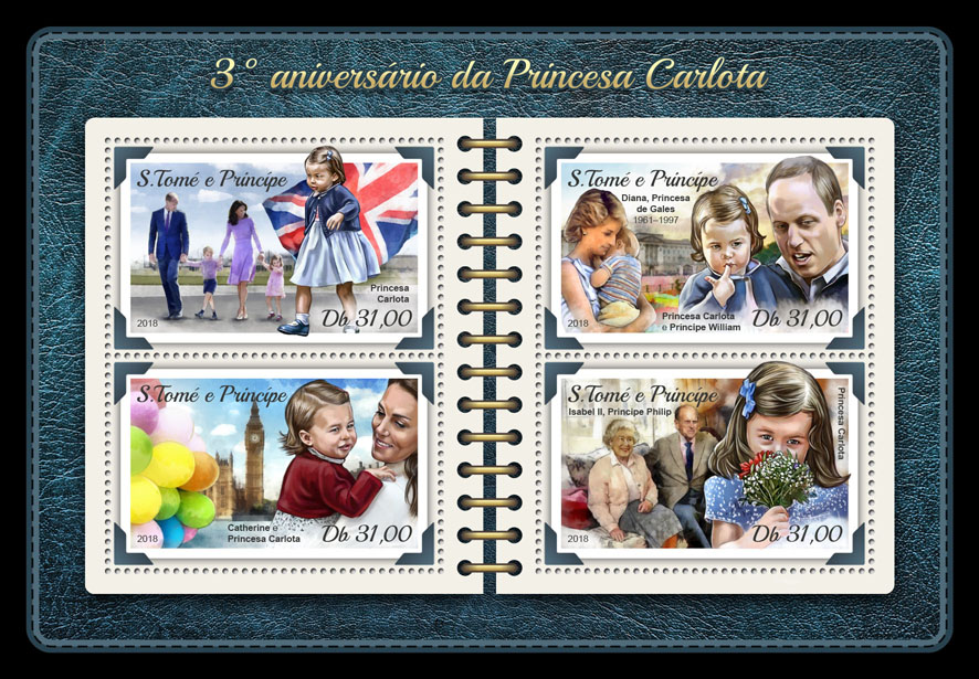 Princess Charlotte - Issue of Sao Tome and Principe postage stamps