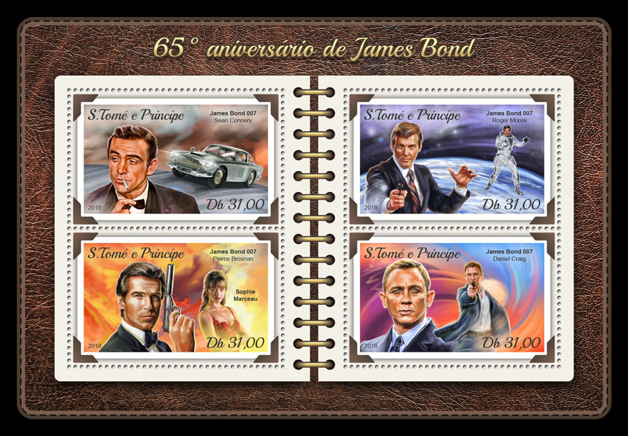James Bond - Issue of Sao Tome and Principe postage stamps