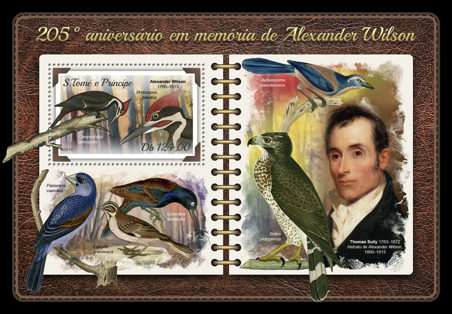 Alexander Wilson - Issue of Sao Tome and Principe postage stamps