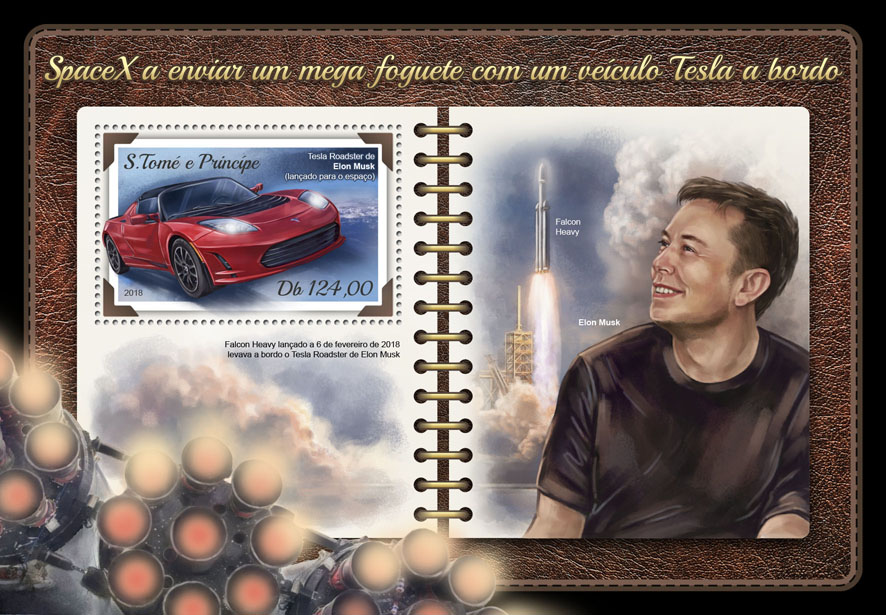 SpaceX - Issue of Sao Tome and Principe postage stamps