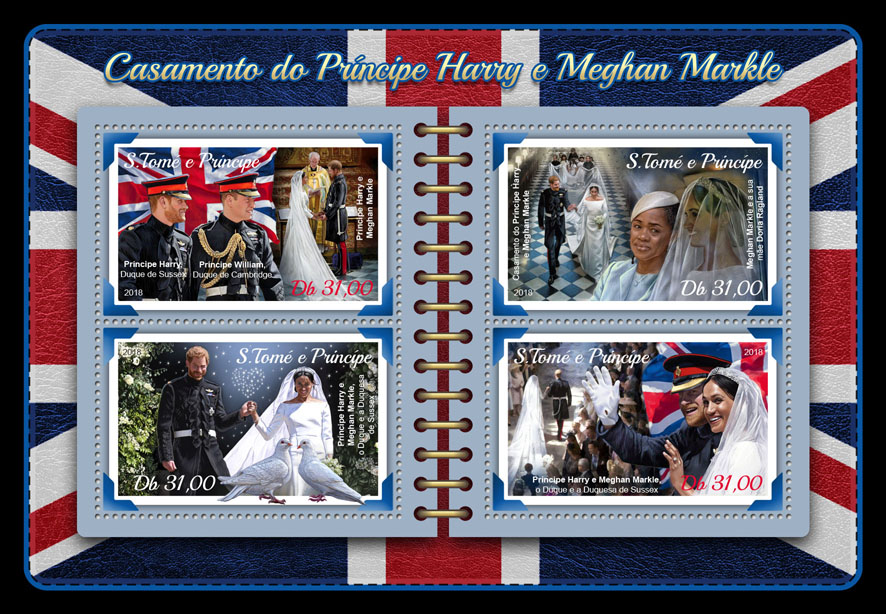 Wedding of Prince Harry and Meghan Markle - Issue of Sao Tome and Principe postage stamps