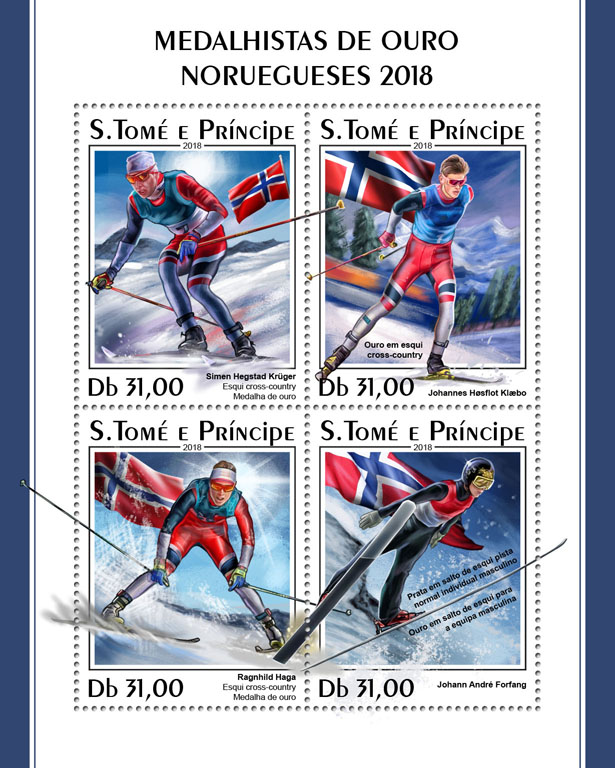 Winter Games 2018 - Issue of Sao Tome and Principe postage stamps