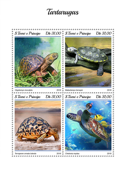 Turtles - Issue of Sao Tome and Principe postage stamps