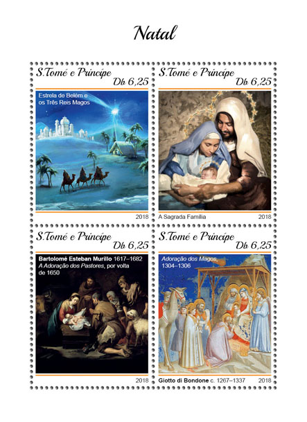 Christmas - Issue of Sao Tome and Principe postage stamps