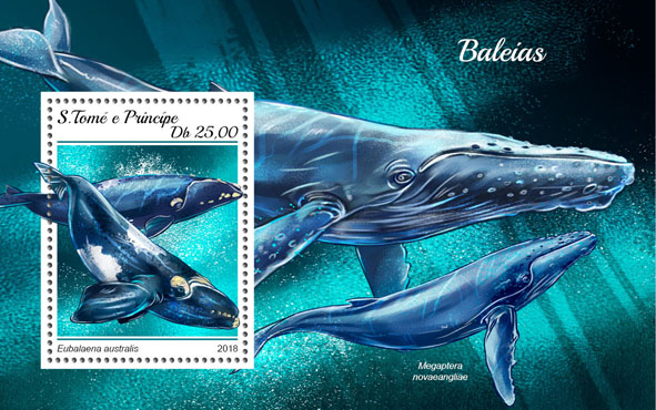 Whales - Issue of Sao Tome and Principe postage stamps