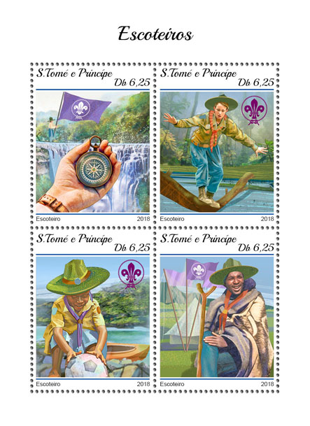 Scouts - Issue of Sao Tome and Principe postage stamps