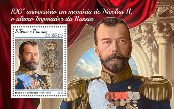 Nicholas II - Issue of Sao Tome and Principe postage stamps