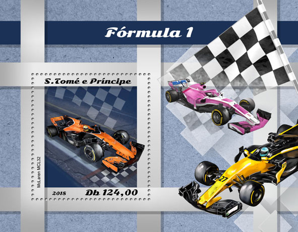 Formula 1 - Issue of Sao Tome and Principe postage stamps
