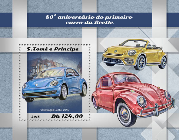 First Beetle car - Issue of Sao Tome and Principe postage stamps