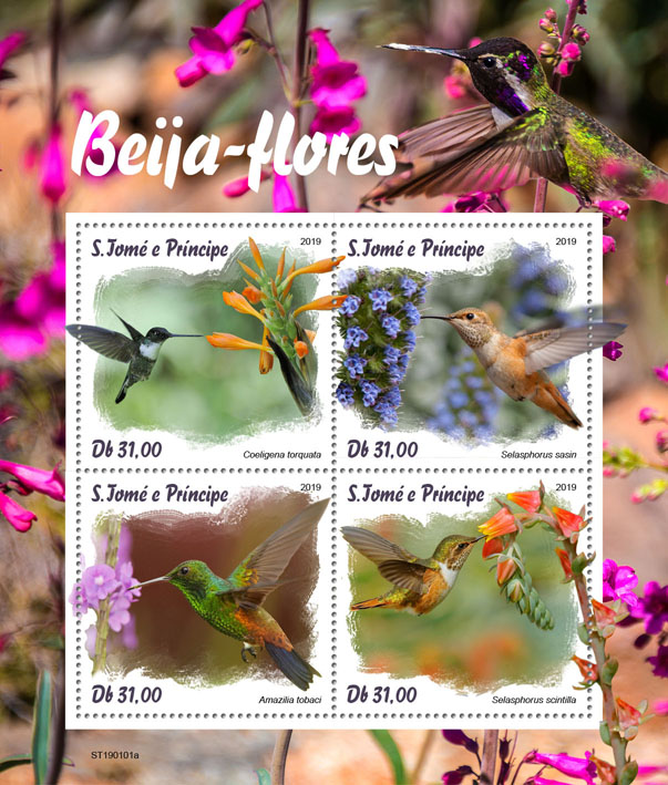Colibri - Issue of Sao Tome and Principe postage stamps