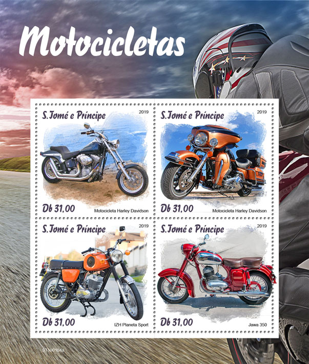 Motorcycles - Issue of Sao Tome and Principe postage stamps