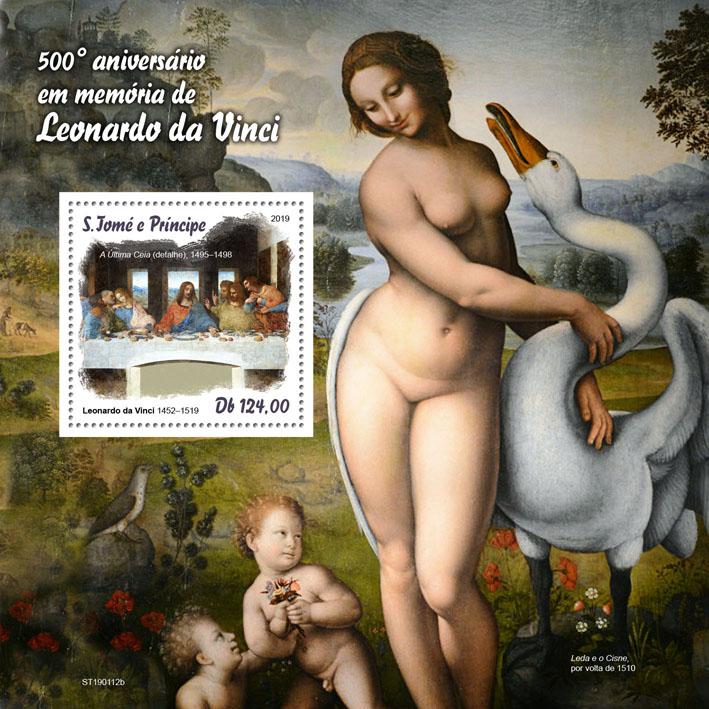 Leonardo da Vinci - Issue of Sao Tome and Principe postage stamps