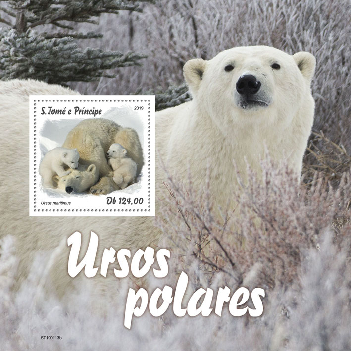 Polar bear - Issue of Sao Tome and Principe postage stamps
