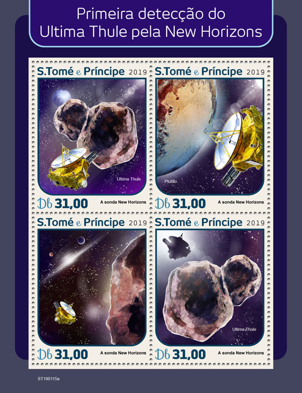 First image by New Horizons - Issue of Sao Tome and Principe postage stamps