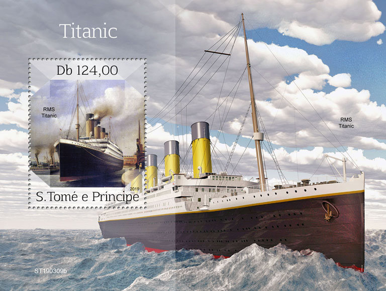 Titanic - Issue of Sao Tome and Principe postage stamps