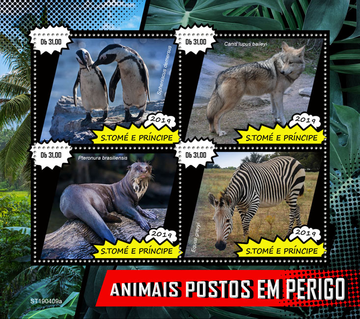 Endangered species - Issue of Sao Tome and Principe postage stamps