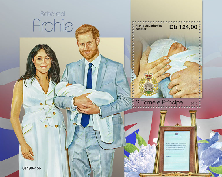 Royal baby - Issue of Sao Tome and Principe postage stamps