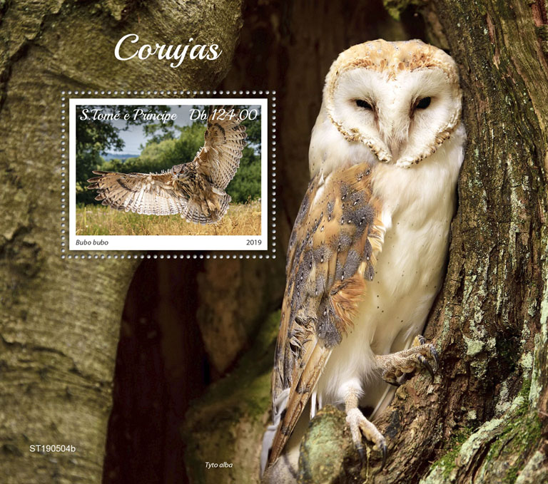 Owls - Issue of Sao Tome and Principe postage stamps