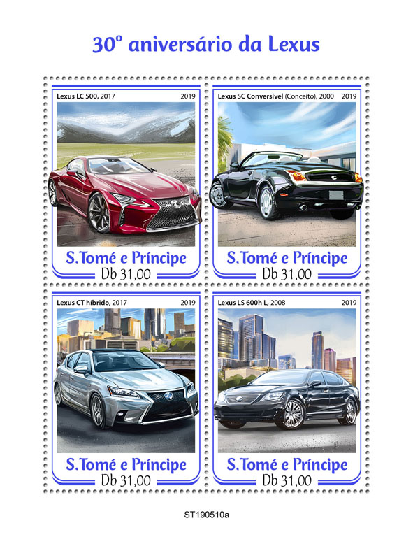 Lexus - Issue of Sao Tome and Principe postage stamps
