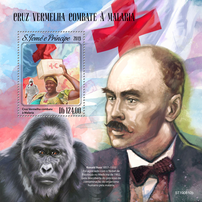 Red Cross fight against Malaria - Issue of Sao Tome and Principe postage stamps