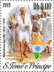 Gandhi 1v - Issue of Sao Tome and Principe postage stamps