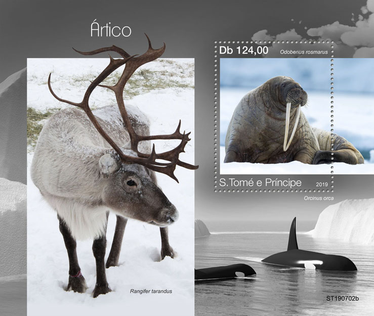 Arctic - Issue of Sao Tome and Principe postage stamps