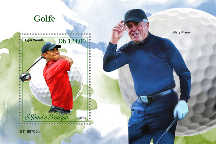 Golf - Issue of Sao Tome and Principe postage stamps