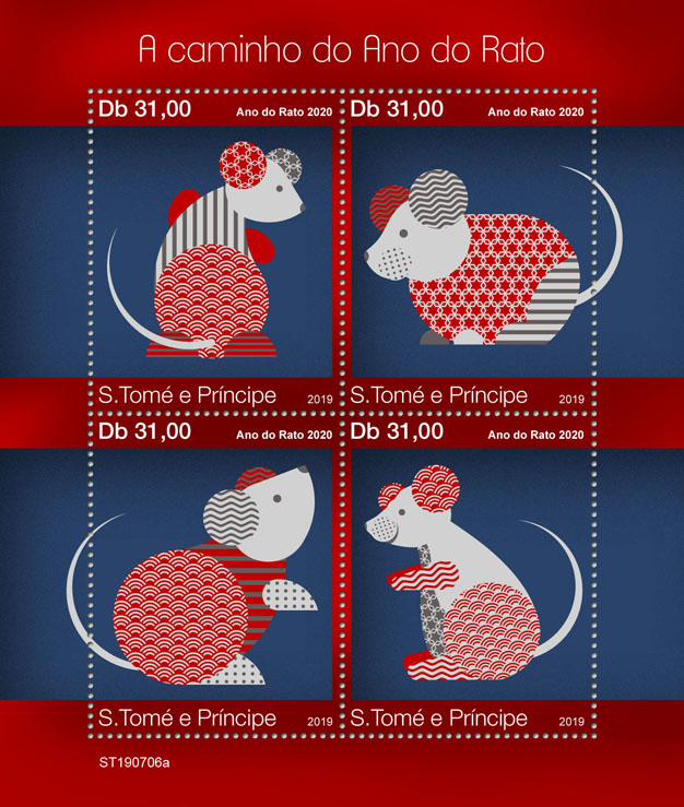 Year of the Rat - Issue of Sao Tome and Principe postage stamps